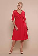 Ошатне червоне плаття нижче колін великі розміри