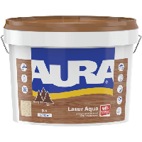 Aura Lasur Aqua 9 л декоративно-защитное средство для дерева Каштан 4820166523979