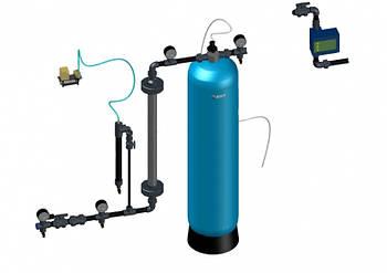 Узел предварительной аэрации с колонной, воздушным клапаном и датчиком протока 0,8-1,3 м3/час