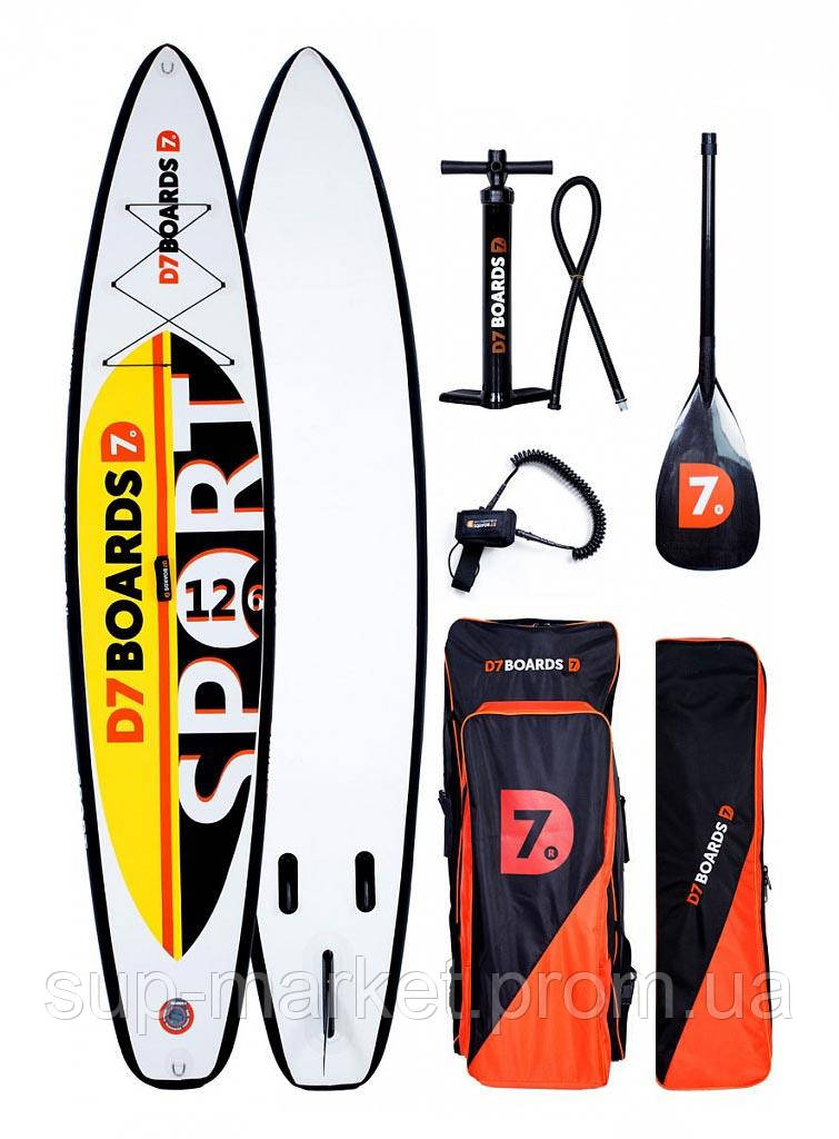 SUP доска D7 Boards 12'6'' x 30'' x 6'' Sport, 2019