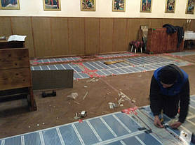 Монтаж теплої підлоги у церкві с.Стратин (Рогатинський р-н) 5