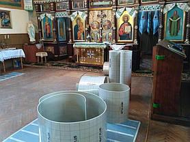 Монтаж теплої підлоги у церкві с.Стратин (Рогатинський р-н) 8