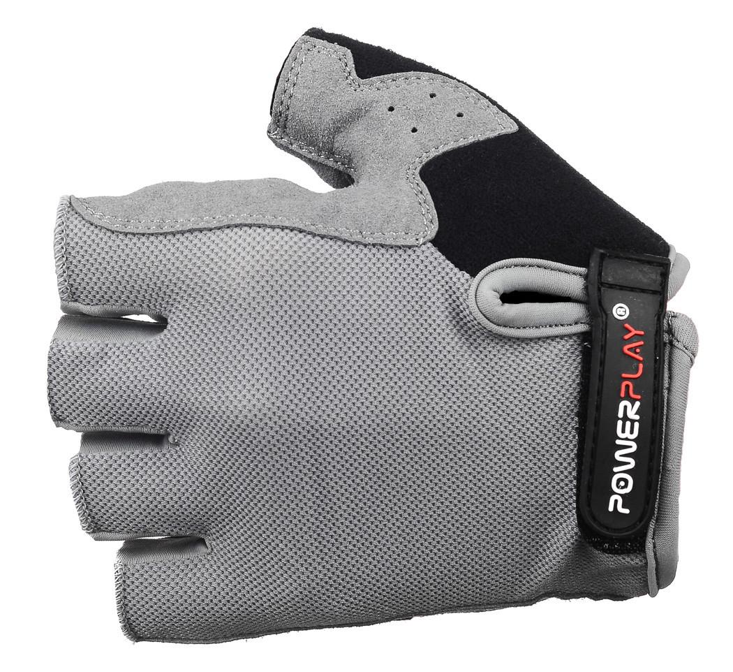 Велоперчатки Powerplay / 5295 / grey-black M
