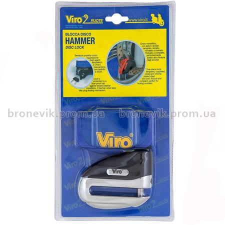 Противоугонный замок на тормоз. диск Viro MOTO Hammer Stainless Steel  2 кл.