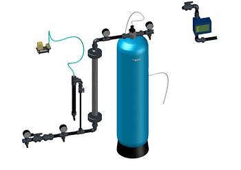 Узел предварительной аэрации с колонной,воздушным клапаном и датчиком протока 1,3-1,8 м3/час