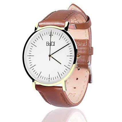 Годинник жіночий кварцовий наручний BaIDI коричневий, фото 2