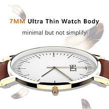 Годинник жіночий кварцовий наручний BaIDI коричневий, фото 3
