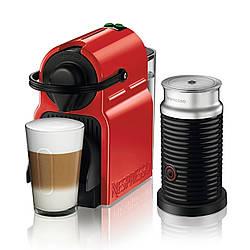 Кофемашина капсульная Nespresso Inissia Magimix Red + Капучинатор Nespresso Aeroccino 3