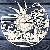 Оригинальные настенные часы из дерева «Фредди Крюгер», фото 1