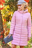 Красивая удлиненная куртка осень весна разные цвета (р. 42-56) арт. Владлена
