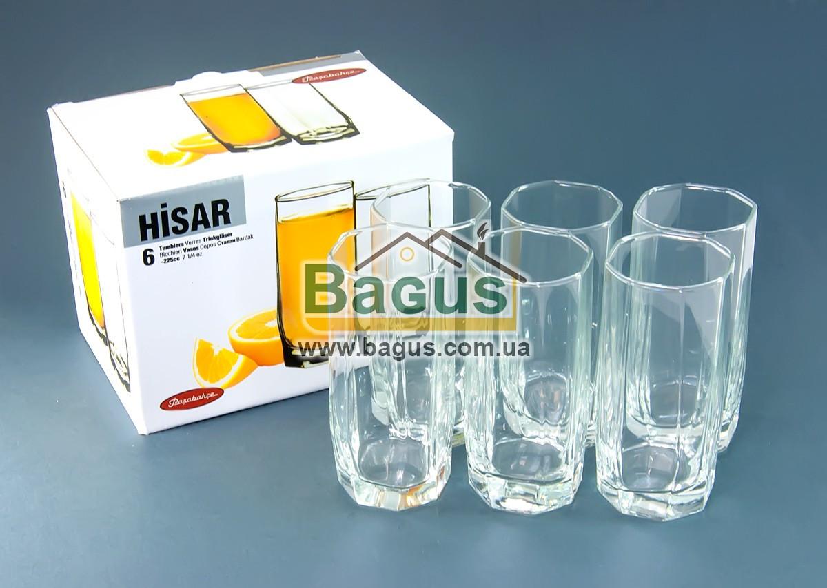 """Набір скляних стаканів 225мл (6шт./наб.) """"Casablanca"""" Pasabahce 42858"""