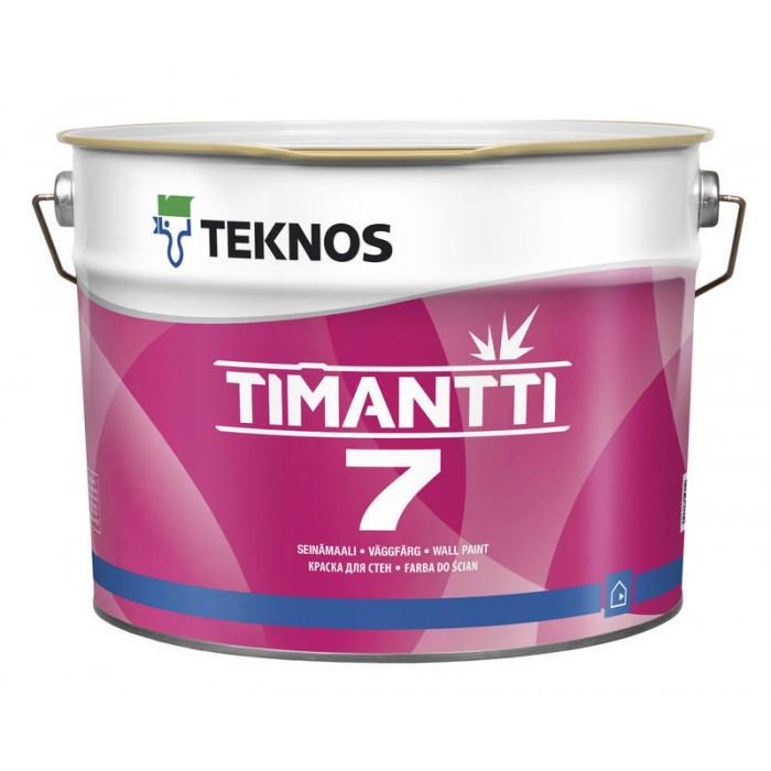 Водорозчинна фарба для стін та стелі Teknos Timantti 7, 2.7 л