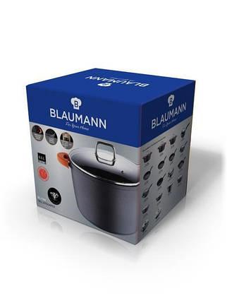 Казан с крышкой кастрюля Blaumann BL-1094 с мраморным покрытием 6.5 л 24 см для дома, фото 2