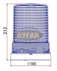Мигалка желтая под лампочку 12 вольт TR512 для грузовиков(8310TR512), фото 3