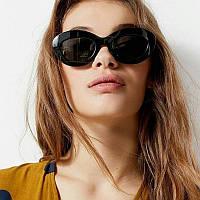Солнцезащитные стильные  женские очки ретро  2020 черные