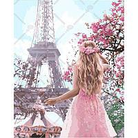 Набор для рисования картины своими руками Влюбленная в Париж 40х50см, Без коробки, фото 1