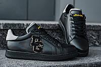 Кеды мужские летние Dolce & Gabbana black (реплика), фото 1