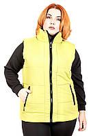 Жилет женский большого размера №116 (3 цвета), жіночий жилет з плащової тканини великого розміру