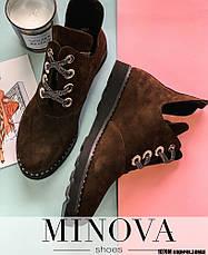 Ботинки женские демисезонные, натуральная замша, размер:36-42, фото 3