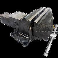 Тиски поворотные 200 мм / 8″ Mar-Pol, тиски слесарные с наковальней, тисы, фото 1