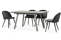 Стол кухонный обеденный серый TМ-170