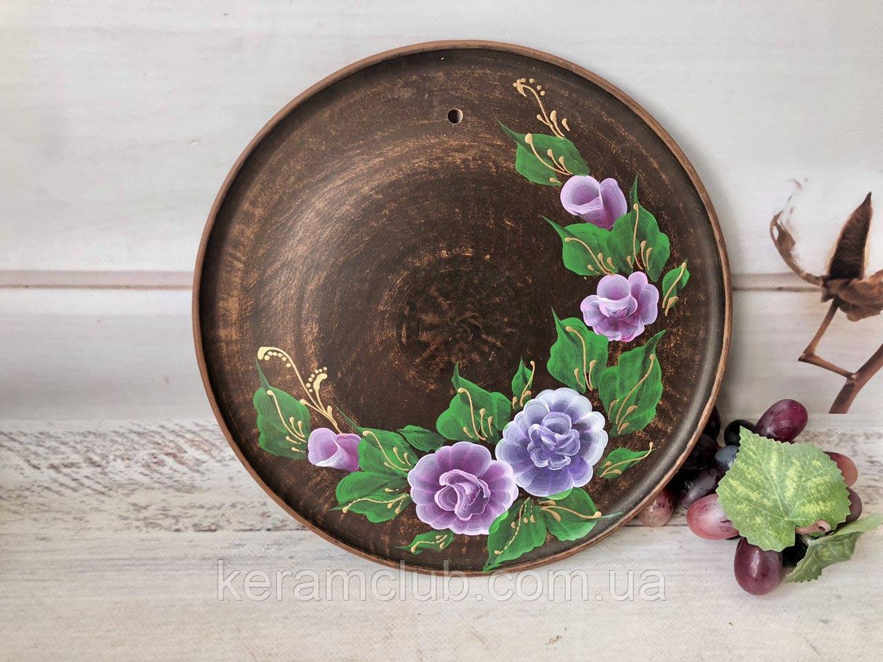 Настенное панно с ручной росписью сиреневые цветы