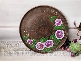 Настенное панно с ручной росписью розовые розы