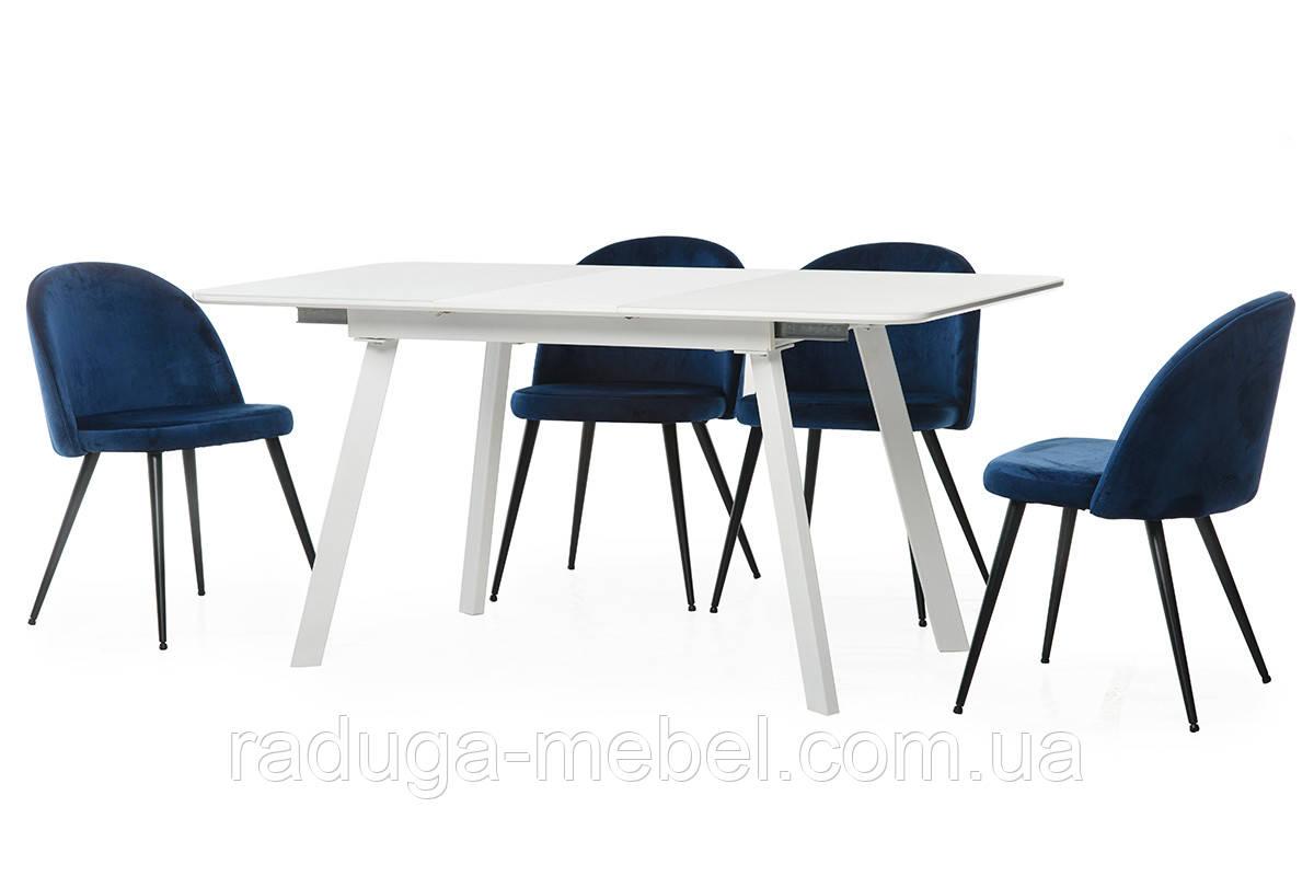 Стол кухонный обеденный белый TМ-170
