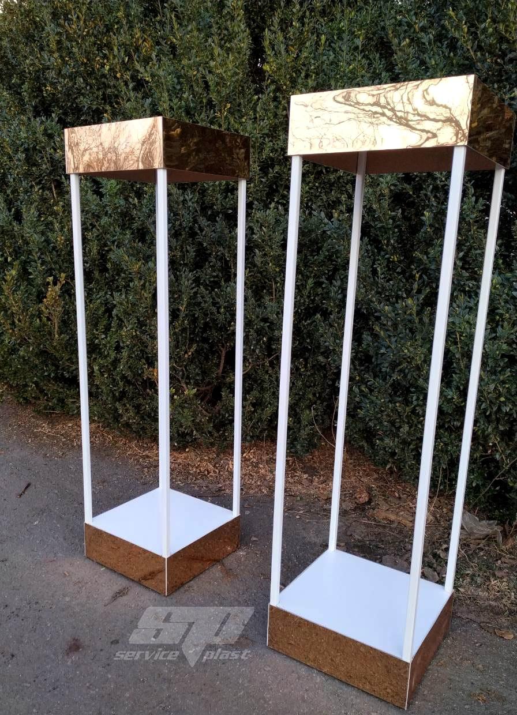 Глянцевые консоли, колоны, тумбы, консоли