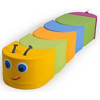 Набор пуфиков Гусеничка для детей мягкий  модуль