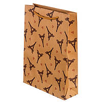 """Подарочный крафт пакет """"Башенки"""" 19,5х24,5 см. упаквка 12 шт"""