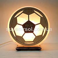 Соляной светильник круглый Футбольный мяч