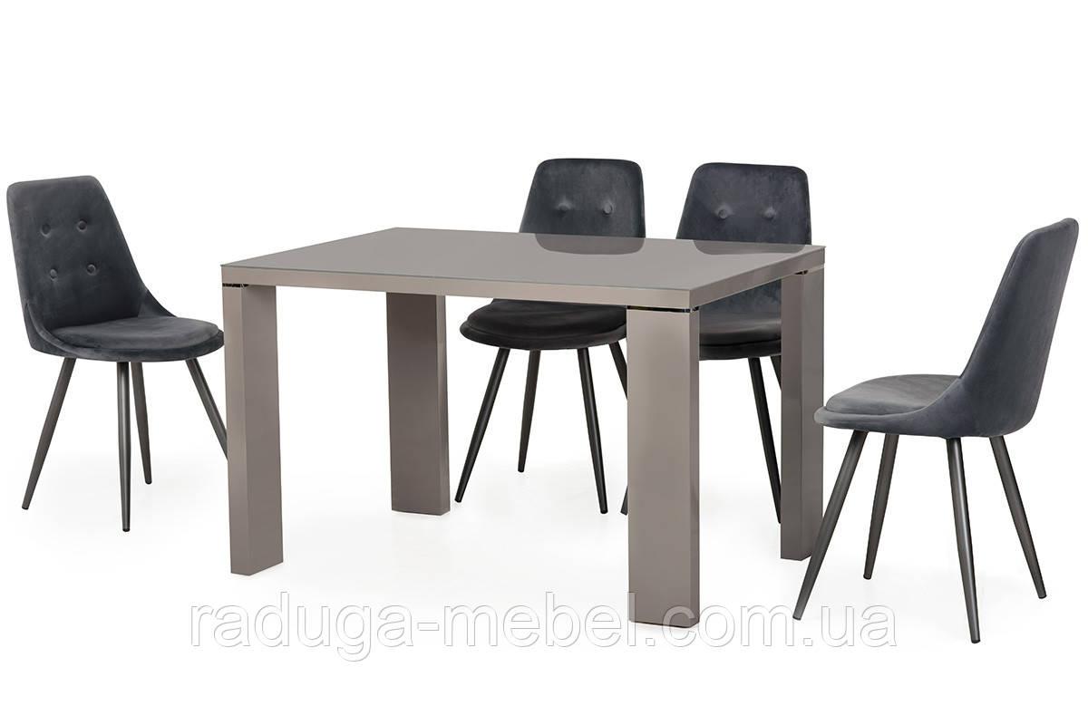 Стол кухонный обеденный серый TМ-78