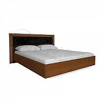 Двоспальне ліжко Профіль 160х200 без каркасу у спальню Белла Чорний Глянець - Вишня Бюзум Міромарк