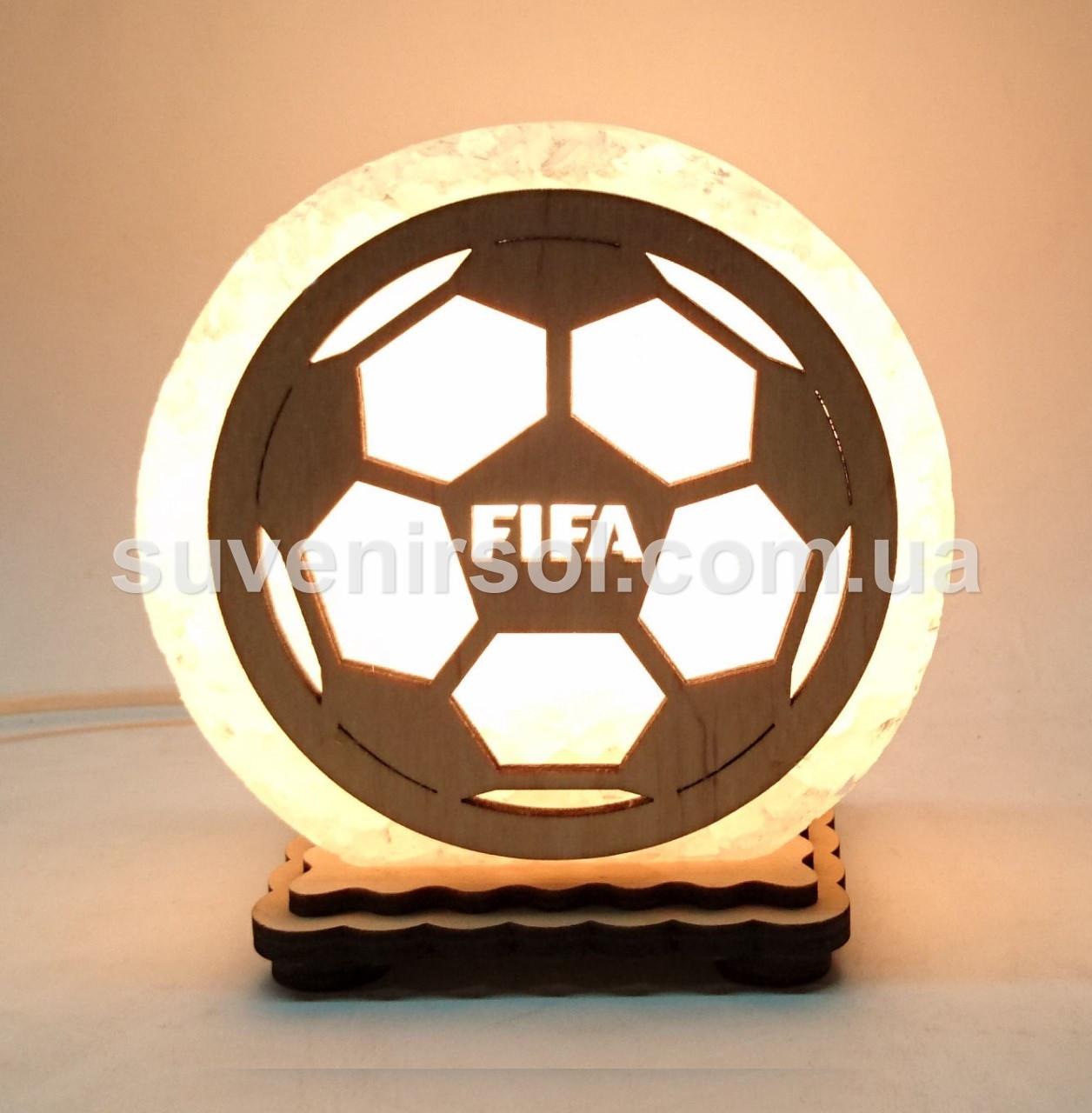 Соляная лампа круглая маленькая Футбольный мяч