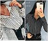 Жіноча сорочка в смужку Батал до 54 р 18596-1