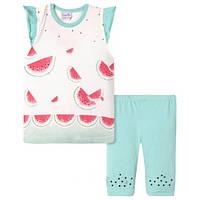 Летний комплект для девочки (футболка+шорты) 68,74.80 размер
