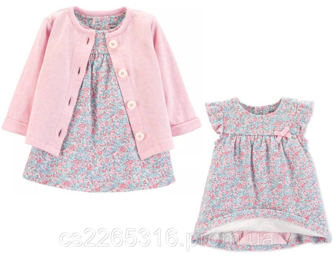 48699b6df6c Красивый Комплект платье-боди с кардиганом Carters 18М для девочки рост  76-81 см