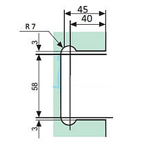 Петля для стеклянной двери с креплением к стене 90 градусов (стена-стекло)  , фото 3