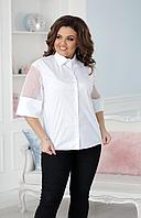Элегантная белая блузка, с 50-54 размер, фото 1