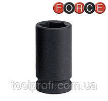 """Головка шестигранная ударная, средней глубины 1/2"""", 21 мм (Force 4455221)"""