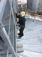 Монтаж металлоконструкций альпинистами