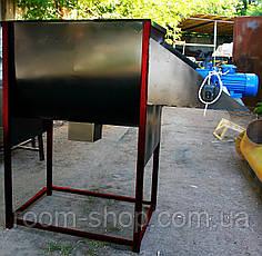 Смеситель (шнековый, кормов) горизонтальный на 200 литров, фото 2