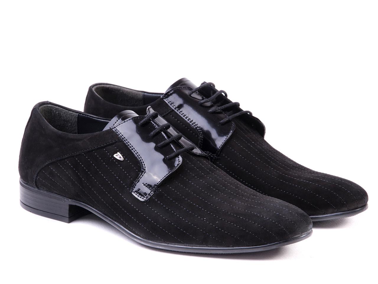 Черные мужские туфли ТМ ETOR.