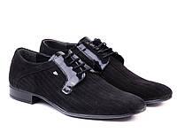Черные мужские туфли ТМ ETOR., фото 1