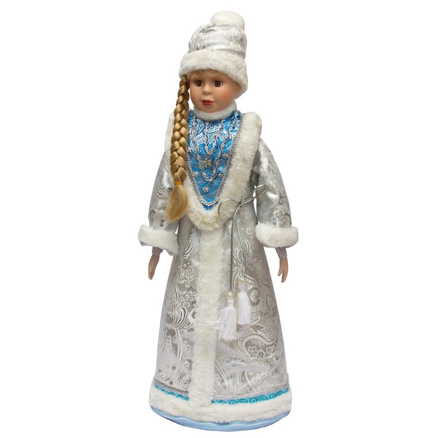 Новогодняя сувенирная фигурка Снегурочка в белой шубе, 66 см (180448-3)