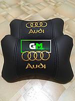 Подушка на подголовник AUDI (немецкая эко-кожа)
