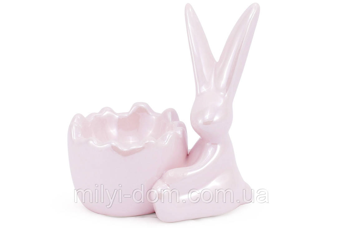 """Подставка под яйцо """"Кролик"""". набор 4 шт, розовый перламутр"""