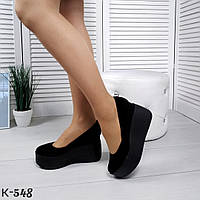 Шикарные женские замшевые туфли на платформе, фото 1