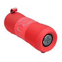 Портативная акустическая водонепроницаемая Bluetooth колонка бумбокс WEEKENDER F2 RED 12Вт